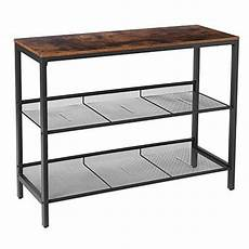 hoobro console table sofa table with 2 flat or slant adj