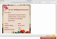 Invitation Design Software For Mac Freeware Anniversary Invitation Cards Designer For Mac By