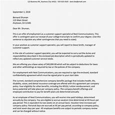 Letters Offering Employment Sample Job Offer Letter Suited For Most Jobs