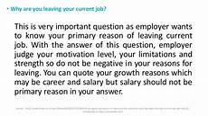Best Reason For Leaving Top Hr Interview Questions And Answers Tips