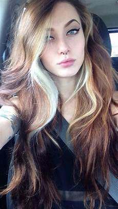 cute long hairstyles with blonde highlights black ombre