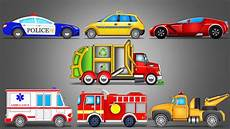 Cartoon Cars Street Vehicles Learning Vehicles Car Cartoon Video