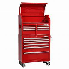 husky 36 in 12 drawer tool chest and cabinet combo in
