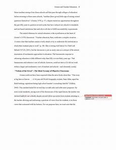 Sample Apa Essay Format Conventional Language Sample Apa Essay With Notes