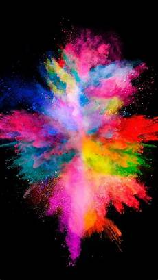 moving iphone xs wallpaper colorful explosion on the black background for your iphone