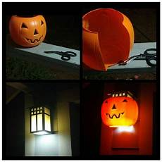 Halloween Light Covers Plastic Pumpkin Candy Bucket Makeover Ideas