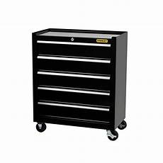 stanley 24 in w 5 drawer tool cabinet black c 305bs