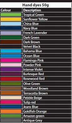 Dylon Dye Colour Chart Dylon Fabric Dye Color Dylon Machine Amp Hand Dye Colour
