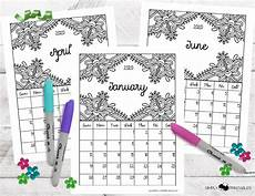 Free Printable Monthly Calendar 2020 Free Printable 2020 Monthly Coloring Calendar Pages
