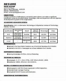 Experience Format Resume 70 Resume Formats Pdf Doc Free Amp Premium Templates