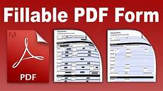 How To Make Pdf Fillable Fillable Pdf Convert And Create An Existing Form Into A