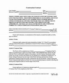 Contractor Contract Sample Free 15 Construction Contract Templates In Pdf Google
