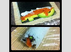 Made mom and I dinner earlier! Homemade sushi roll! Smoked
