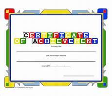 Record Of Achievement Template 36 Fabulous Achievement Certificate Templates Word Psd
