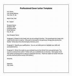 Cover Letter For Therapist Free 9 Sample Physical Therapist Cover Letter Templates