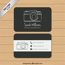 Photography Business Cards Templates Black Photography Business Card Free Vector