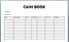 Daily Sales Record Book Cash Book Format And Example Of Cash Flow Report