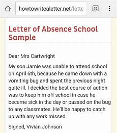 How To Write A Absent Note For School What Is A Good Sample Letter To Write An Absence From