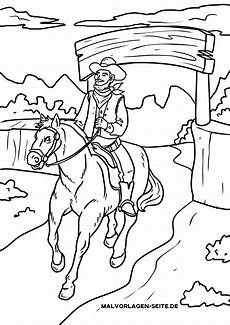 malvorlage cowboy ausmalbilder kostenlos herunterladen