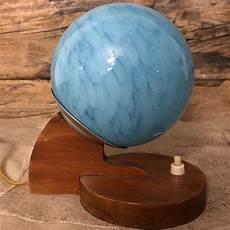 comodino vetro lada da comodino vintage in vetro azzurrato e base in