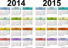 Free Printable Yearly Calendar Templates 2015 2014 2015 Calendar Free Printable Two Year Excel