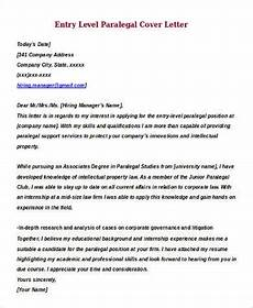 Paralegal Cover Letter Samples Sample Entry Level Cover Letter 8 Examples In Word Pdf