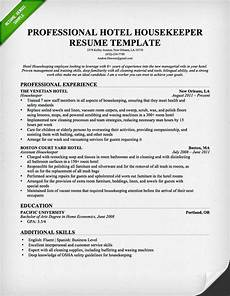 Housekeeping Resume Format Free Resume Templates With Images Sample Resume