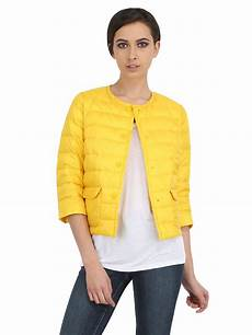 Light Yellow Coat Lyst Add Quilted Light Down Jacket In Yellow