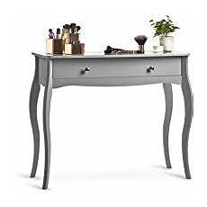 sorrento grey dressing table with drawer gold