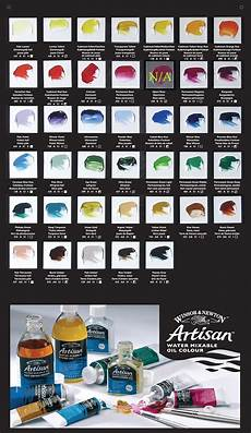 Synthetic Oil Color Chart Artisan Oil Paints Color Chart