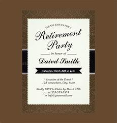 Retirement Party Invitation Template Free Free 15 Retirement Party Invitation Templates In Ai Ms