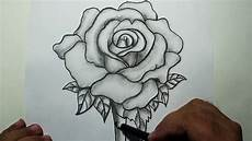 Drawing With Pencil How To Draw A Rose Pencil Drawing And Shading Youtube