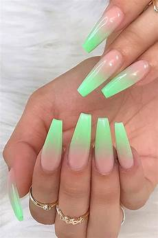 Light Pink And Green Nails 23 Crazy Gorgeous Nail Ideas For Coffin Shaped Nails