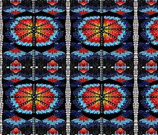 american beadwork symbols giftwrap fabric is my