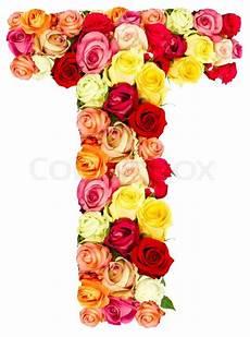 flower wallpaper letter t roses flower alphabet isolated on stock image