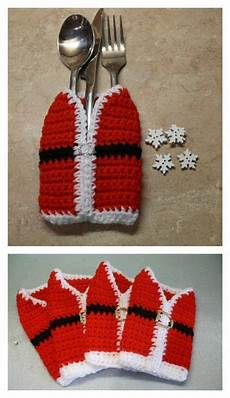 weihnachtsgeschenke stricken cutlery holders free crochet patterns