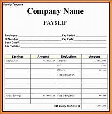 Basic Payslip Template Excel Download 8 Payslip Templates Sampletemplatess Sampletemplatess