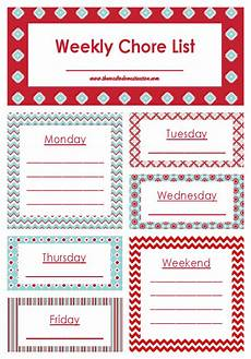Weekly Chores Weekly Chore List Printable The Road To Domestication