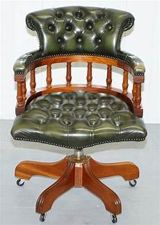 lovely chesterfield directors green leather executive