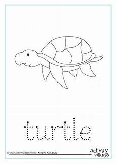 Animal Patterns To Trace Turtle Word Tracing
