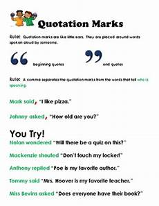 Use Of Quotation Marks Using Quotation Marks Correctly Creative Teaching Packet