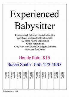 How To Write An Ad For Babysitting Babysitting Quotes For Flyers Quotesgram