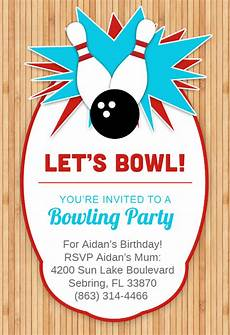 Free Printable Bowling Party Invitations For Kids Bowling Party Invitation Template Free Greetings Island