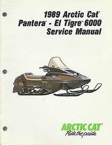 1990 Arctic Cat Snowmobile Service Manual Kitty Cat Model