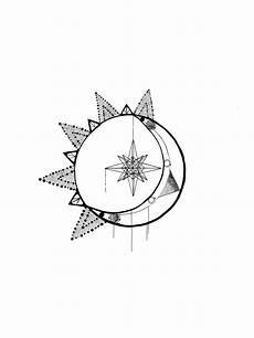 Moon And Stars Design Sun Stars Astronomy Moon Geometrics Ideas Moon