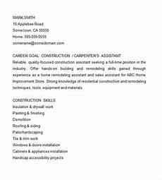 Carpenters Resume Carpenter Resume Template 9 Free Samples Examples