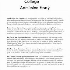 Essays College Create An Excellent College Admission Essay Letter Of