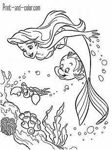 the mermaid coloring pages print and color