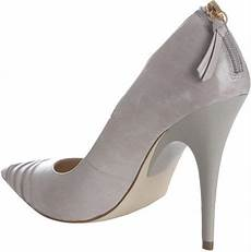 Light Grey Pumps Boutique 9 Light Grey Leather Quinn Pointed Toe Pumps In