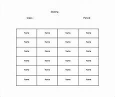 Classroom Seating Chart Template Microsoft Word Classroom Seating Chart Template 10 Examples In Pdf